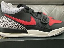 AIR JORDAN Legacy 312 Low GS Size 7Y Youth CD9054-006 Black Red Cement Grey Bred