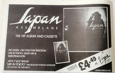 JAPAN 'Assemblage' 1982 magazine ADVERT / Poster 8x6 inches
