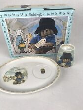 Spode Paddington Bear Embossed Egg Cup and Snack Plate Collectible Nip