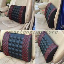 12V Car Auto Seat Back Lumbar Waist Support Vibration Massage Cushion Pillow Hot