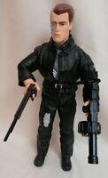 """TERMINATOR 2 - 3D Collectors Ed 12"""" T-800 Terminator Loose Figure Kenner 1997"""