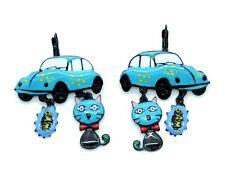 Boucles d'oreilles LOL Bijoux LOLILOTA Coccinelle VW et le chat BFLOL073-bleu