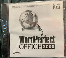 Corel WordPerfect Office 2000 Standard New Sealed CD Case