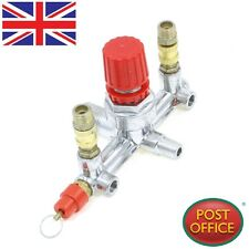 Air Compressor Double Outlet Tube Pressure Regulator Valve Fitting