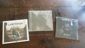 Kontra K 3 CD's Sammlung Konvolut Neu Wolf Schatten Licht Labyrinth Rap