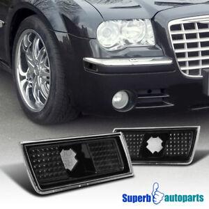 For 2004-2010 Chrysler 300 300C Side Marker Lamps Turn Signal Lights Black