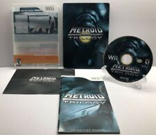 Metroid Prime Trilogy: Collector's Edition Steelbook (Nintendo Wii 2009) NM Disc