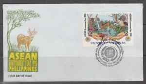 Philippine Stamps 1995 ASEAN Environment Year set on First Day Cover