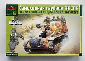 """MSD 3545 WWII """"Wespe"""" German 10.5 cm self-propelled gun 1:35 kit (ex -ALAN kit)"""