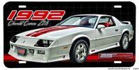 1992 Chevrolet Z28 Camaro 25th Anniversary Edition Aluminum License Plate