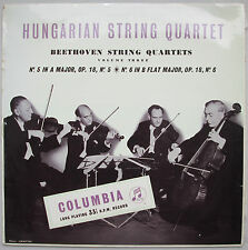 COLUMBIA 33CX 1191 *HUNGARIAN STRING QUARTET* BEETHOVEN STRING QUARTETS