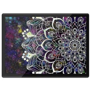 Quickmat Plastic Placemat A3 - Dark Space Mandala Flower  #2720