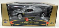 Burago 1/18 Scale Diecast 3382 Ferrari F50 1995 Coupe Metallic Grey