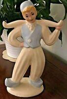 """Hedi Schoop Hollywood Studio Vintage 50's Signed 11"""" Dutchboy Ceramic Figurine"""