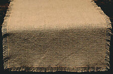 "Primitive 100% Soft Cotton BURLAP Table Runner ~ 13"" x 36"""