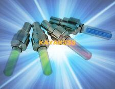 Bike Bicycle + car auto valve stem rim lights NEON LED Glow 4 Safety C@@L!!!
