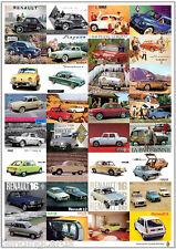 RENAULT Classique-Rétro impression artistique-DAUPHINE GORDINI 4 5 8 12 16-publicité poster