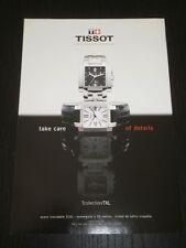 2001 - TISSOT - WATCH RELOJ - AD PUBLICITE ANUNCIO - SPANISH MAGAZINE  - 1574