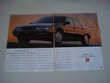 advertising Pubblicità 1991 CITROEN XM V6