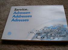 VW Golf 3 : Service Adressen Händlerverzeichnis 10.92 , aus Bordbuch