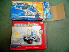 2 Kits Eitech Construction Set C72 Solar Powered Kit . Built Up Toys Excavator