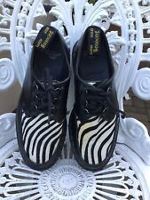 Doc Martens Ramsey Zebra Creepers Pony Hair Shoes Uk7/41 Leather 3hole