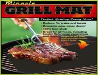 Miracle Grilling Mat Set Of 2 Non-Stick Grill Mats BBQ Bar B Que Barbeque Two