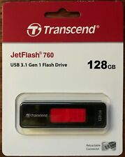 Transcend Jetflash 760 USB 3.1 Gen 1 - 128GB USB Thumb Drive NY New York Shipper