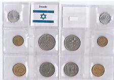 ISRAELE ISRAEL SET 5 MONETE SERIE VARI TAGLI MIXED YEARS COINS + BANDIERA