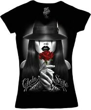 DGA David Gonzales Chola Style Chicano Homie Lowrider Junior Size V Neck T Shirt