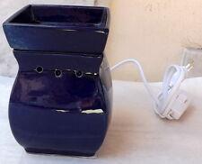 diffusore ambiente ceramica porcellana con luce led brucia essenze lampada blu