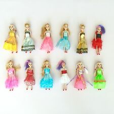 Miniature Barbie doll 12 pack playset bundle with princess and fashion clothes