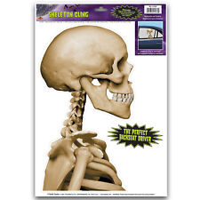 HALLOWEEN Party Decoration SKELETON CAR Window Cling BACKSEAT PASSENGER DRIVER