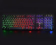 G49X Light Up Gaming Keyboard - LARGE Backlit BLUE RED Mechanical-Like Wired