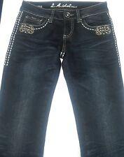 Women's Juniors LA Idol Size 1 Dark Denim Blue Jeans 28x32