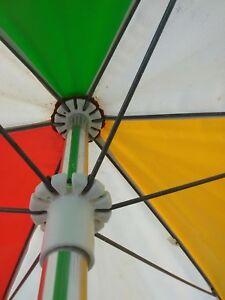 Vintage Finkel Patio Umbrella Retro 60's Orange Yellow Green White