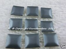Hotfix 50 Metall Formen Nailheads aufbügeln Quadrat 7 mm Grau matt Karostonebox