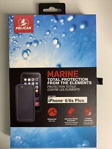 Pelican Marine Waterproof Case for iPhone 6/6s Black Total Protection