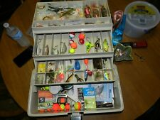 plano 6803 tackle box with lures and fly fishing tackle misc