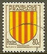 """FRANCE TIMBRE STAMP N° 1046 """" ROUSSILLON , ARMOIRIES """" OBLITERE TB"""