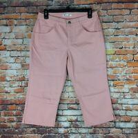 Riders By Lee Womens Size 6 Medium Pink Mid Rise Capri Denim Jeans