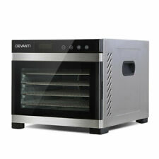 Devanti FD-E-306-SS - Food Dehydrator Commercial with 6 Trays - Silver