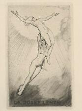 Max SCHENKE 1891-1969 Nude Women Ascending Exlibris Dr. Lenze Radierung Etching
