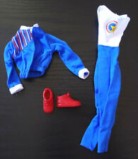 Barbie Doli Clothes Paralympics Outfit Uniform Jump Suit Jacket Flat Sneakers