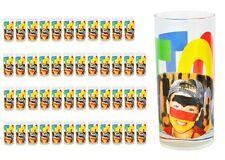 48er Set Wasserglas Face Tatoo Saftglas Wassergläser Saftgläser Glas Fussball