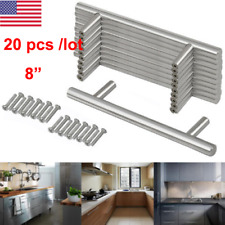 20x lot stainless steel kitchen cabinet handles t bar cupboard drawer pull knob