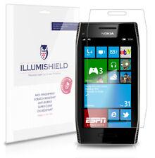 iLLumiShield Phone Screen Protector w Anti-Bubble/Print 3x for LCD Nokia X7