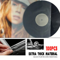 AU 100Pcs Plastic Clear Sleeves Record Outer Cover for 12'' LP LD Vinyl Music