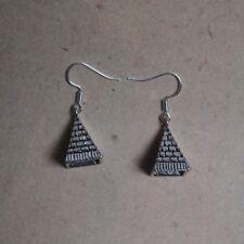 Ohrringe Pyramide 3D, Ägypten *Neu* Ohrhaken aus Chirurgenstahl versilbert