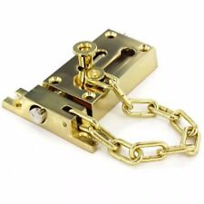 Polished Brass Finish Door Security Door Bolt /& Chain B1636